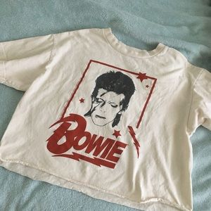 brandy melville david bowie cropped graphic tee